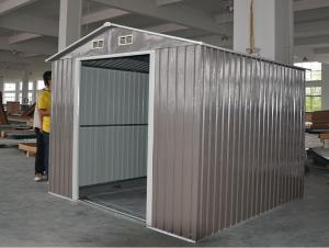 China Colorful 8X8 Medium Apex Metal Shed , Waterproof Gable Roof Garden Shed 8 ' x 8 ' on sale