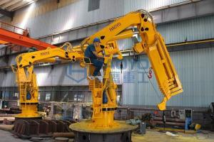 China Offshore Hydraulic telescopic arm marine cranes for sale with BV CCS CE ABS Certification on sale