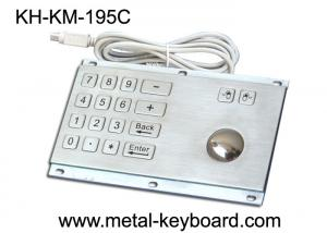 China Rugged Stainless Steel Panel Mount Keyboard with Trackball IP65 Rate Dustproof on sale