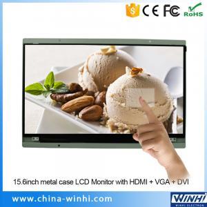 China 15.6 inch 1080p vga lcd monitor 12 volt digital signage touchscreen hd lcd monitor on sale