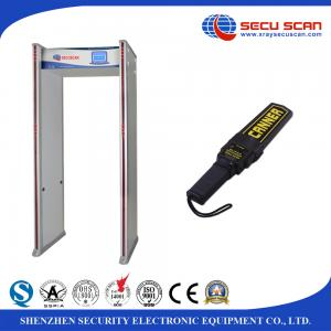 China 33 Zones Metal Detector Gate AT300C Walk Through Body Scanner Support Multi Language on sale