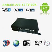 Black android4.2 DVB-T2 tv box  wifi  South America