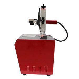 China Desktop Red Fiber Laser Marking Machine / Led Bulb Logo Fiber Laser Printer on sale
