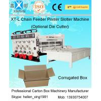 11KW Semi-auto Printing Slotting Corrugated Carton Machine In Production Line