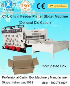 China 11KW Semi-auto Printing Slotting Corrugated Carton Machine In Production Line on sale