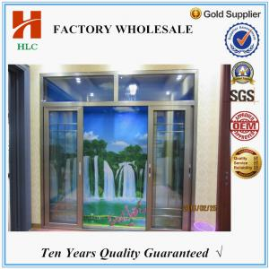 China Doubling glazing 2.0mm thickness aluminum sliding door price on sale