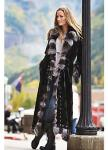 Maertisa Mink Fur Coat with Silver Fox Fur Trim manufacturer wholesale with free shipping by express