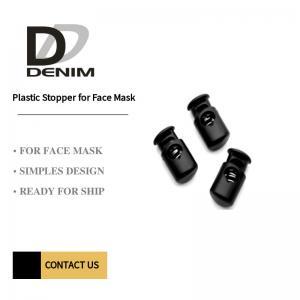 Plastic Stopper For Face Mask Black Elastic Cord Stopper