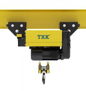 China Import Schneider Contactor European Electric Wire Rope Hoist , M4 Work Duty Electric Chain Hoist With Trolley on sale