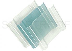 China Waterproof FRP Translucent Roofing Sheets For Warehouse , Clear Plastic Roof Sheets on sale