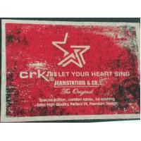 Heat Transfer Clothing Labels Silk Screen Sticker With Customized 3D LOGO / Color