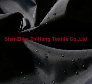 China Waterproof bright wrinkled taffeta nylon fabric on sale