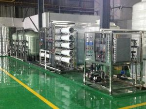 China Silicon Wafer Cleaning Ultrapure Water Purification System 3000 lph PLC Control on sale