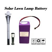 6.4V 10Ah Cylindrical Lithium Ion Battery / Cylindrical Battery Pack For Solar Lawn Lamp