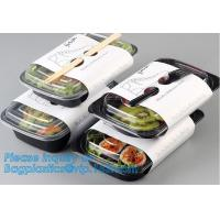 Disposable PP plastic food container 3 compartment containers / bento box / meal prep containers,food containers square