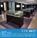 Customize acrylic jewelry display showcase with lock