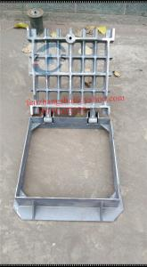 China loductile iron gully grate, Romania 450x450mm D400 ,drain cover, heavy gully grate, black bituminous paint on sale