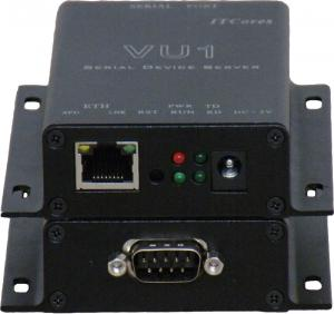 China 1 Port SCADA Serial Server Solution , Industrial Edition VU1 Serial Port Server  AC220V on sale