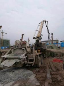 China 2005 Year Zoomlion Pump Isuzu Truck Used Concrete Pump Truck 37m With Super Power on sale