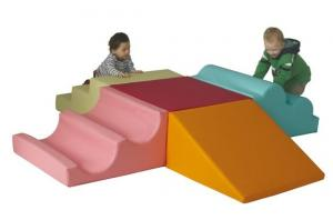 China Children'S Indoor Soft Play Equipment For Home Use 3M DM With Wave Balance Beam on sale