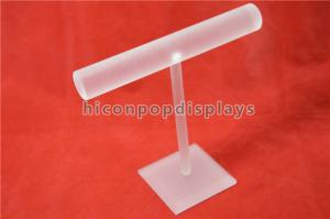 China Jewelry Store Fashion Shop Counter Display Racks Acrylic Bangle T-Bar Display Rack on sale