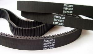 China Heat / Oil Resistant Industrial Timing Belts Rubber Material Black Color on sale