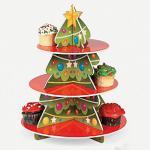 Présentoir à gradins de petit gâteau de carton pour les magasins de détail de gâteau