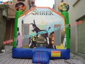 China Roi gonflable de glissière de Shrek d'enfants des châteaux pleins d'entrain de châteaux pour le message publicitaire, utilisation de maison on sale