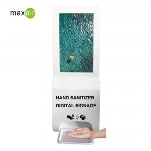 China Wall Mounted Scent Diffuser Machine LCD Advertising Player And Touch Free Auto Hand Sanitizer Dispenser on sale