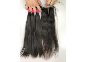 China 100 Percent Silky Straight Indian Human Hair Weave No Shedding Double Weft on sale