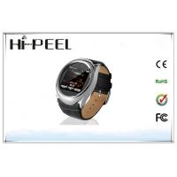 Round Metal Case Quad Band Watch Phone with 1.6 Inch Touch Screen Bluetooth