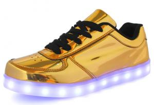 China Dancing LED Shoes with TPR Sole and PU Leather Upper on sale