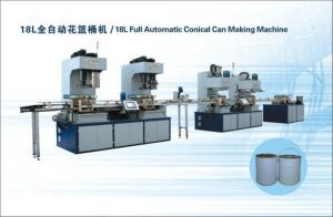 China 18L full automatic conical can making production line on sale