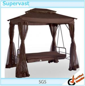 China Gazebo Swing Chair With Daybed Modern Outdoor Patio Recliner Chair Bed on sale