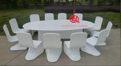 Swell 12 Seater White S Shape Chair Rattan Table Set For Sale Ibusinesslaw Wood Chair Design Ideas Ibusinesslaworg