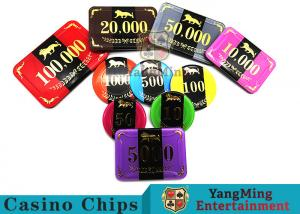 China 3.3mm Thickness RFID Casino Poker Chip Set With Aluminum Chips Case on sale
