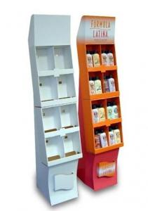 China Corrugated Paper Pop Cardboard display stands rack for advertising cosmetics on sale