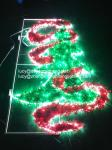 pole decoration christmas tree light