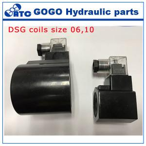 China DSG valve Hydraulic Control Parts 12V dc solenoid coil size 6 size 10 on sale