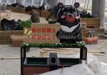 Custom Color Dustbin Shopping Centre Decorations Fiberglass Bear Statue