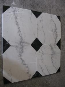 China Guangxi White Marble Floor Tiles Chinese Carrara Marble White Marble Designed Paving Stone on sale