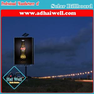 China Solar Power LED Spotlight Advertising Unipole Billboard on sale