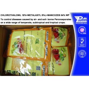 China Systemic Fungicide Chlorothalonil 18% + Metalaxyl 8% + Mancozeb 54% WP on sale