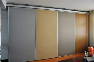 China Commercial Folding Room Divider Aluminium Profile Office Sliding Partition Walls on sale