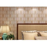 China Bronzing Leaf Bedding Room Home Wall Decor Wallpaper Adult Style , Economical on sale
