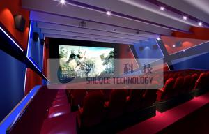 China Attractive 4d simulator cinema , 3D 4d 5D 6D movie with flat / arc screen for Theme park on sale