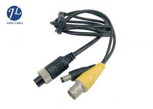 China 4 Pin And DC / RCA Camera Cable For CCTV Vehicle Monitoring System Signal on sale