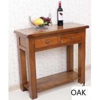 China Rustic Oak 2 Drawer Hall Table on sale