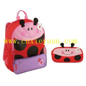 China Cute Girls Backpacks and Pencil Pouch Bag Set on sale