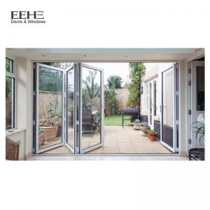 China High Strength Red Aluminium Folding Doors For Commercial Buildings 5mm Thickness on sale